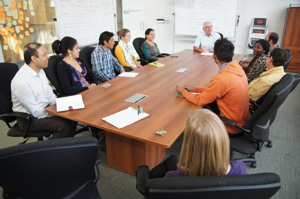 RTP participants meet with trainers and CBG's director, Dr. Paul Hebert