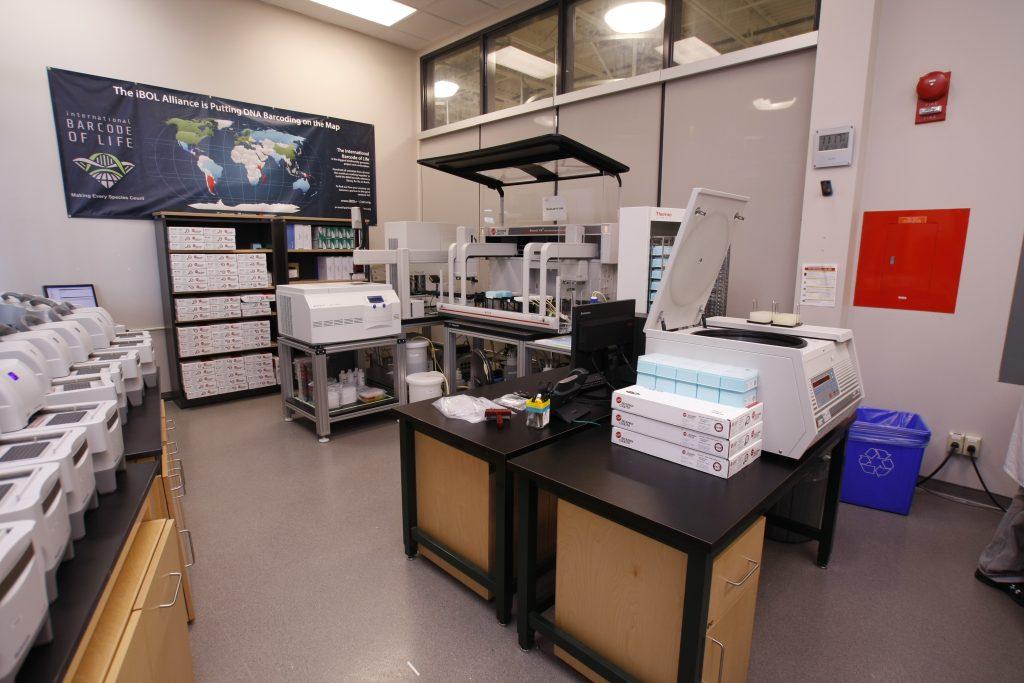 Core lab at the Centre for Biodiversity Genomics