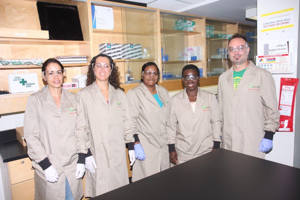 CBD 2016 participants, from left to right: Laura Brenes, Graziele Batista, Jayani Nimanthika, Mary Namaganda, Sebastian Marquez