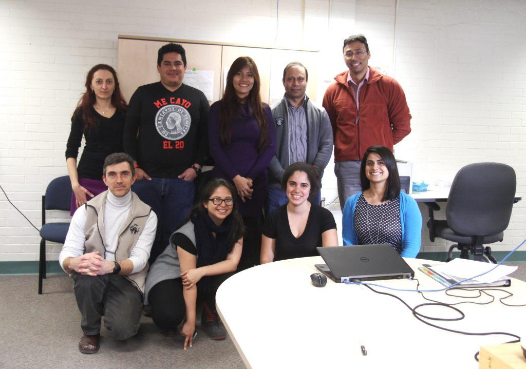 From left to right: Dr. Adriana Radulovici, Dr. Alex Borisenko, David Zelaya, Gabriela Matamoros, Ivany Argueta, Dr. Muhammad Ashfaq, Susana Miranda, Dr. Jesus Orozco and Michelle D'Souza
